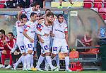 S&ouml;dert&auml;lje 2015-08-01 Fotboll Superettan Assyriska FF - &Ouml;stersunds FK :  <br /> Assyriskas Fredrik Holster firar sitt 2-0 m&aring;l med lagkamrater under matchen mellan Assyriska FF och &Ouml;stersunds FK <br /> (Foto: Kenta J&ouml;nsson) Nyckelord:  Assyriska AFF S&ouml;dert&auml;lje Fotbollsarena Superettan &Ouml;stersund &Ouml;FK jubel gl&auml;dje lycka glad happy