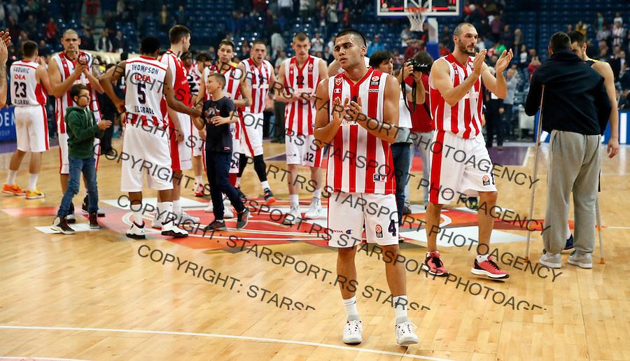 Nikola Rebic  Euroleague basketball game between Crvena Zvezda and Fenerbahce on Novembar 6. 2015 Beograd, Srbija, 6.11.2015.  (credit image & photo: Pedja Milosavljevic / STARSPORT)