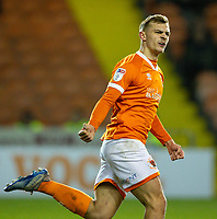 Blackpool's Kieran Dewsbury-Hall celebrates scoring his side's first goal <br /> <br /> Photographer Alex Dodd/CameraSport<br /> <br /> The EFL Sky Bet League One - Blackpool v Tranmere Rovers - Tuesday 10th March 2020 - Bloomfield Road - Blackpool<br /> <br /> World Copyright © 2020 CameraSport. All rights reserved. 43 Linden Ave. Countesthorpe. Leicester. England. LE8 5PG - Tel: +44 (0) 116 277 4147 - admin@camerasport.com - www.camerasport.com