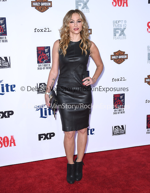 Drea De Matteo attends  FX's SONS OF ANARCHY Premiere Screening held at The TCL Chinese Theatre  in Hollywood, California on September 06,2014                                                                               © 2014 Hollywood Press Agency