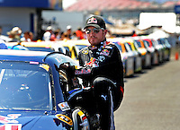 Apr 25, 2009; Talladega, AL, USA; NASCAR Sprint Cup Series driver Brian Vickers during qualifying for the Aarons 499 at Talladega Superspeedway. Mandatory Credit: Mark J. Rebilas-