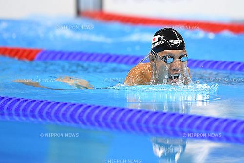 Tomotaro Nakamura (JPN),<br /> SEPTEMBER 10, 2016 - Swimming : <br /> Men's 100m Breaststroke SB7 Final  <br /> at Olympic Aquatics Stadium<br /> during the Rio 2016 Paralympic Games in Rio de Janeiro, Brazil.<br /> (Photo by AFLO SPORT)