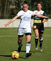 20190921 – LEUVEN, BELGIUM : OHL's Jolien van Doren is pictured during a women soccer game between  Oud Heverlee Leuven Ladies B and Eendracht Aalst Ladies on the fourth matchday of the Belgian Division 1 season 2019-2020, the Belgian women's football  national division 1, Saturday 21th September 2019 at the Bruinveld Youth Complex, Domeinstraat in Leuven , Belgium. PHOTO SPORTPIX.BE | SEVIL OKTEM