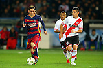 (L-R) Lionel Messi (Barcelona), Carlos Sanchez, Matias Kranevitter (River),<br /> DECEMBER 20, 2015 - Football / Soccer :<br /> FIFA Club World Cup Japan 2015 Final match between River Plate 0-3 FC Barcelona at International Stadium Yokohama in Kanagawa, Japan. (Photo by AFLO)