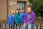 Students Union IT Tralee South Campus l-r Niamh Murtagh,  Welfare, Mary McCoy, Secretary, Steve Clifford, Eduation Officer, Ben Slimm, President