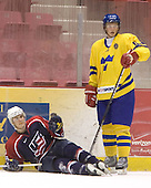 Chad Kolarik (University of Michigan - Phoenix Coyotes), Anton Stralman (Timra IK - Toronto Maple Leafs)  The US Blue team lost to Sweden 3-2 in a shootout as part of the 2005 Summer Hockey Challenge at the National Junior (U-20) Evaluation Camp in the 1980 rink at Lake Placid, NY on Saturday, August 13, 2005.