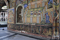 BG41179.JPG BULGARIA, RILA MONASTERY, CHURCH OF NATIVITY, frescoes