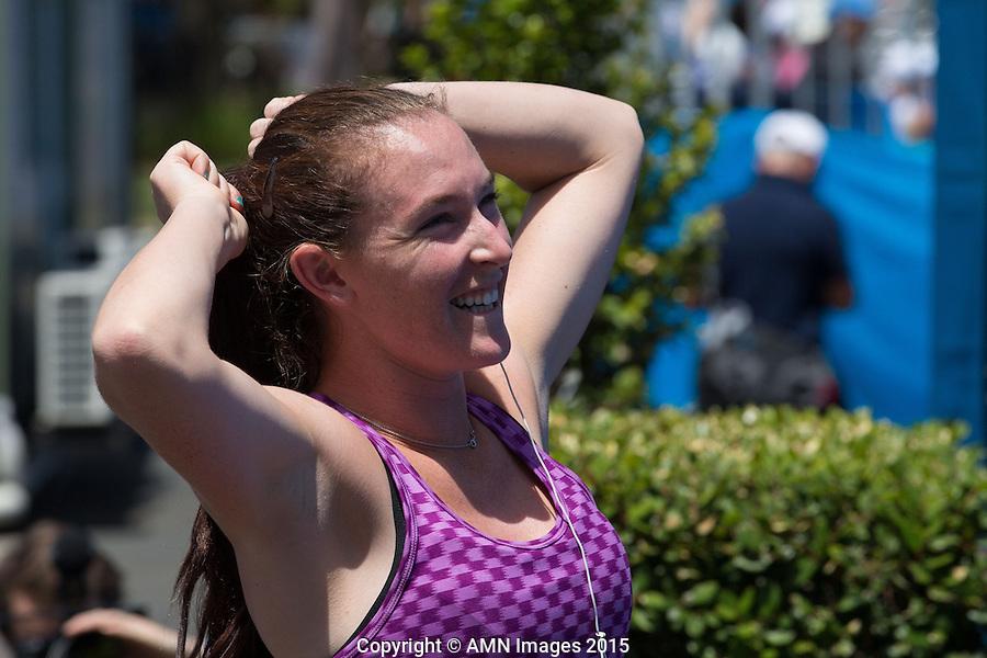 Madison Brengle (USA)<br /> <br /> Tennis - Australian Open 2015 - Grand Slam -  Melbourne Park - Melbourne - Victoria - Australia  - 24 January 2015. <br /> &copy; AMN IMAGES