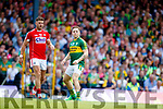 Darran O'Sullivan Kerry in action against Eoin Cadogan Cork in the Munster Senior Football Final at Fitzgerald Stadium on Sunday.