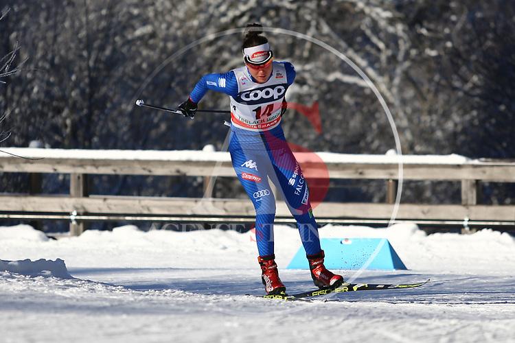 Cross Country Ski World Cup 2018 FIS in Dobbiaco, Toblach, on December 16, 2017; Ladies 10 Km Interval Start Free technique ; Giulia Stuerz (ITA)<br /> &copy; Pierre Teyssot / Pentaphoto