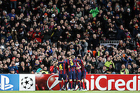 FC Barcelona's players celebrates goal during Champions League 2014/2015 match.December 10,2014. (ALTERPHOTOS/Acero) /NortePhoto