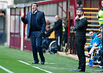 Motherwell v St Johnstone&hellip;20.10.18&hellip;   Fir Park    SPFL<br />Saints manager Tommy Wright shouts instructions<br />Picture by Graeme Hart. <br />Copyright Perthshire Picture Agency<br />Tel: 01738 623350  Mobile: 07990 594431