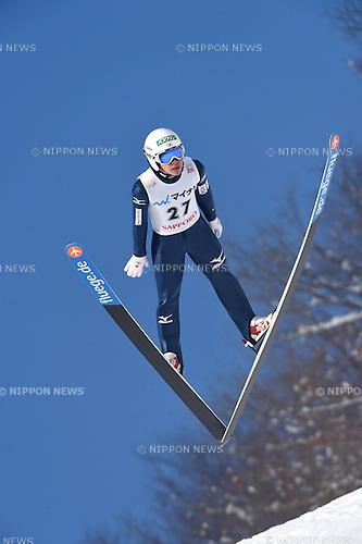 Shohei Tochimoto (JPN),<br /> JANUARY 25, 2015 - Ski Jumping :<br /> FIS Ski Jumping World Cup Large Hill Individual (HS134) at Okurayama Jump Stadium in Sapporo, Hokkaido, Japan. (Photo by Hitoshi Mochizuki/AFLO)