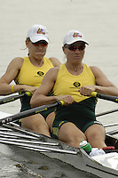 Poznan, POLAND.  2006, FISA, Rowing, World Cup,  AUS1 W2X  bow Catriona  SENS and  Sonia MILLS, moves  away from  the  start, on the Malta  Lake. Regatta Course, Poznan, Thurs. 15.05.2006. © Peter Spurrier   .[Mandatory Credit Peter Spurrier/ Intersport Images] Rowing Course:Malta Rowing Course, Poznan, POLAND