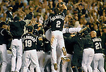 01 October  2007:  Colorado Rockies celebrate their 13 inning, 9-8 victory over the San Diego Padres to earn a place in the National League Wild Card Series.