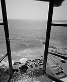 SRI LANKA, Asia, Colombo, elevated view from a room window of the Galle Face Hotel at Colombo (B&W)