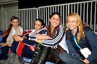 (L-R) Megan Kincaid, Rebecca Sereda (juniors), Julie Zetlin and Anastasia Torba of USA pose for team portrait at 2010 World Cup at Portimao, Portugal on March 11, 2010.  (Photo by Tom Theobald).