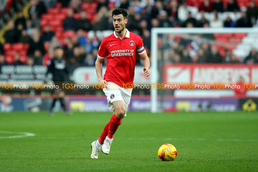Johnnie Jackson of Charlton during Charlton Athletic vs Wolverhampton Wanderers, Sky Bet Championship Football at The Valley, London, England on 28/12/2015