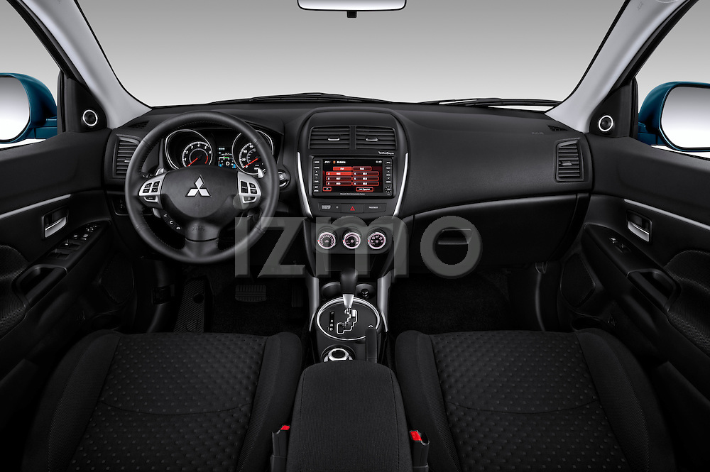 Dashboard view of a 2012 Mitsubishi Outlander Sport.