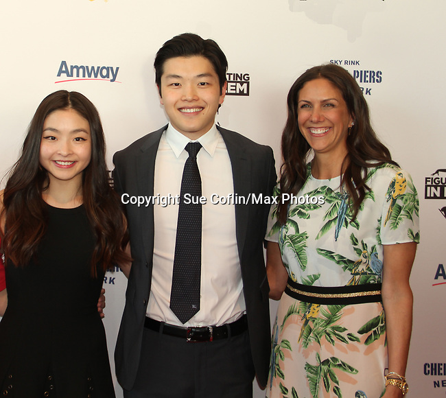 Maia & Alex Shibutani - Ellen Lowey at Figure Skating in Harlem's Champions in Life (in its 21st year) Benefit Gala recognizing the medal-winning 2018 US Olympic Figure Skating Team on May 1, 2018 at Pier Sixty at Chelsea Piers, New York City, New York. (Photo by Sue Coflin/Max Photo)