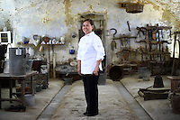 Cristeta Comerford, Chef to the US President Barack Obama, poses for a portrait in the Cascina Colombara during the annual meeting of the Club des Chefs des Chefs in Livorno Ferraris, Vercelli, Italy, July 18, 2015.<br />