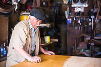 Carpenter in the Mariscal District, Quito, Ecuador, South America