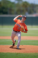GCL Astros pitcher Ryan Gusto (50) during a Gulf Coast League game against the GCL Marlins on August 8, 2019 at the Roger Dean Chevrolet Stadium Complex in Jupiter, Florida.  GCL Marlins defeated GCL Astros 5-4.  (Mike Janes/Four Seam Images)