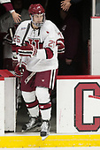 Wiley Sherman (Harvard - 25) - The Harvard University Crimson defeated the St. Lawrence University Saints 6-3 (EN) to clinch the ECAC playoffs first seed and a share in the regular season championship on senior night, Saturday, February 25, 2017, at Bright-Landry Hockey Center in Boston, Massachusetts.