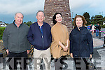 John Sullivan, Damian Morgan, Riona Hurley and Kathleen Crean at the round tower unveiling in Glenbeigh on Saturday night