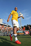 24 June 2014: Los Angeles' Landon Donovan. The Carolina RailHawks of the North American Soccer League played the Los Angeles Galaxy of Major League Soccer at Koka Booth Stadium at WakeMed Soccer Park in Cary, North Carolina in the fifth round of the 2014 Lamar Hunt U.S. Open Cup soccer tournament. The RailHawks won the game 1-0 in overtime.