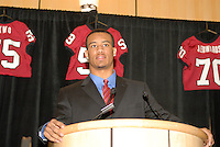 14 January 2007: Brandon Harrison at the annual football banquet at McCaw Hall in Stanford, CA.