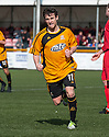 Alloa's Kevin Cawley celebrates after he scores their fourth goal to secure second place.