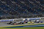 #18: Noah Gragson, Kyle Busch Motorsports, Toyota Tundra Safelite AutoGlass and #16: Brett Moffitt, Hattori Racing Enterprises, Toyota Tundra