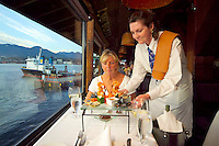 Vancouver, BC, Canada, August 2006. A romantic 'Fly and Dine' is a scenic flight by Floatplane offered by West Coast Air and exquisite food by the Cannery Seafood House in the harbour. Squeezed in between the Rocky Mountains and the Pacific Ocean, Vancouver has a special feel. Photo by Frits Meyst/Adventure4ever.com