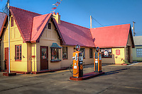 Baxter Springs Roue 66 Visitor Center is located in a restored 1930's gas station.