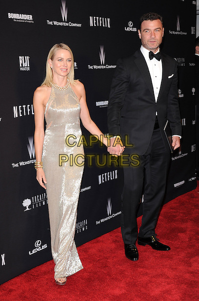 Liev Schreiber and Naomi Watts<br />  attends THE WEINSTEIN COMPANY &amp; NETFLIX 2014 GOLDEN GLOBES AFTER-PARTY held at The Beverly Hilton Hotel in Beverly Hills, California on January 12,2014                                                                               <br /> CAP/DVS<br /> &copy;DVS/Capital Pictures