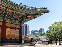 Stadhalle City Hall und Palast Deoksugung in Seoul, S&uuml;dkorea, Asien<br /> City hall and  palace Deoksugung, Seoul, South Korea, Asia