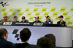 hertz british grand prix during the world championship 2014.<br /> Silverstone, england<br /> August 28, 2014. <br /> cal cruchtlow<br /> jorge lorenzo<br /> dani pedrosa<br /> marc marquez<br /> valentino rossi<br /> bradley smith<br /> PHOTOCALL3000/ RME