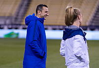 COLUMBUS, OH - NOVEMBER 07: Vlatko Andonovski of the United States walks the field during a game between Sweden and USWNT at Mapfre Stadium on November 07, 2019 in Columbus, Ohio.