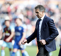 Leicester City manager Claude Puel <br /> <br /> Photographer Rich Linley/CameraSport<br /> <br /> The Premier League - Burnley v Leicester City - Saturday 14th April 2018 - Turf Moor - Burnley<br /> <br /> World Copyright &copy; 2018 CameraSport. All rights reserved. 43 Linden Ave. Countesthorpe. Leicester. England. LE8 5PG - Tel: +44 (0) 116 277 4147 - admin@camerasport.com - www.camerasport.com