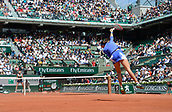 7th June 2017, Roland Garros, Paris, France; French Open tennis championships;  Caroline Garcia (Fra) during her 2 set loss to  Kristyna Pliskova (CZE)