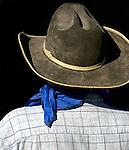 Cowboy hat and silk scarf
