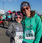 Yezenia and 7-year old Delilah during the Run with the Girls event at Damonte Ranch High School on Sunday, Nov. 5, 2017.