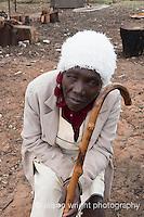 Africa, Swaziland, Malkerns. Women selling corn in the local Manzini market.