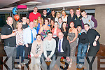 21ST CELEBRATION: David Magee, Shanakil, Tralee (seated centre) had a fab night celebrating his 21st birthday in the Abbey Inn, Tralee with his parents Dingus and Maria and many friends and family.