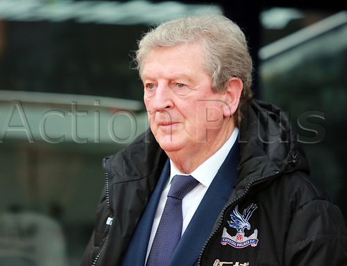 4th February 2018, Selhurst Park, London, England; EPL Premier League football, Crystal Palace versus Newcastle United; Roy Hodgson manager of Crystal Palace watches from the technical area