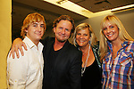 Guiding Light's Kim Zimmer with son Max - husband AC Weary - daughter Rachel at the 5th Annual Rock show for charity to benefit the American Red Cross on October 9, 2009 at the American Red Cross Headquarters, New York City, New York. (Photos by Sue Coflin/Max Photos)