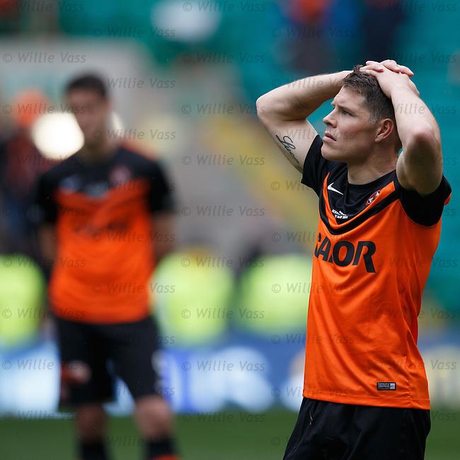 Dundee Utd dejection: John Rankin