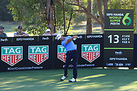 Wade Ormsby (AUS) in action on the 13th during Round 2 of the ISPS Handa World Super 6 Perth at Lake Karrinyup Country Club on the Friday 9th February 2018.<br /> Picture:  Thos Caffrey / www.golffile.ie<br /> <br /> All photo usage must carry mandatory copyright credit (&copy; Golffile | Thos Caffrey)