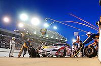 May 2, 2008; Richmond, VA, USA; NASCAR Nationwide Series driver Kasey Kahne pits during the Lipton Tea 250 at the Richmond International Raceway. Mandatory Credit: Mark J. Rebilas-US PRESSWIRE
